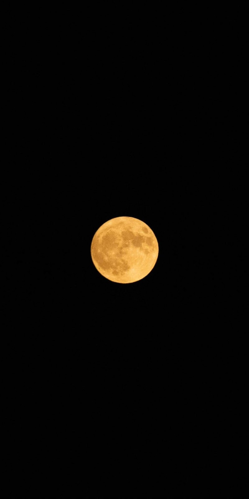 Full moon in the dark night