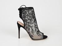 Sandale ALDO negre, Kerisen, din material textil