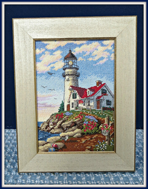 "Making Progress and My ""Beacon At Rocky Point"" Cross-stitch Picture and Kit"