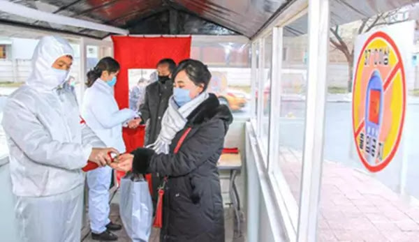 Anti-epidemic work at Central District, Pyongyang