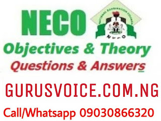 2020 NECO SPECIMEN QUESTIONS AND ANSWERS