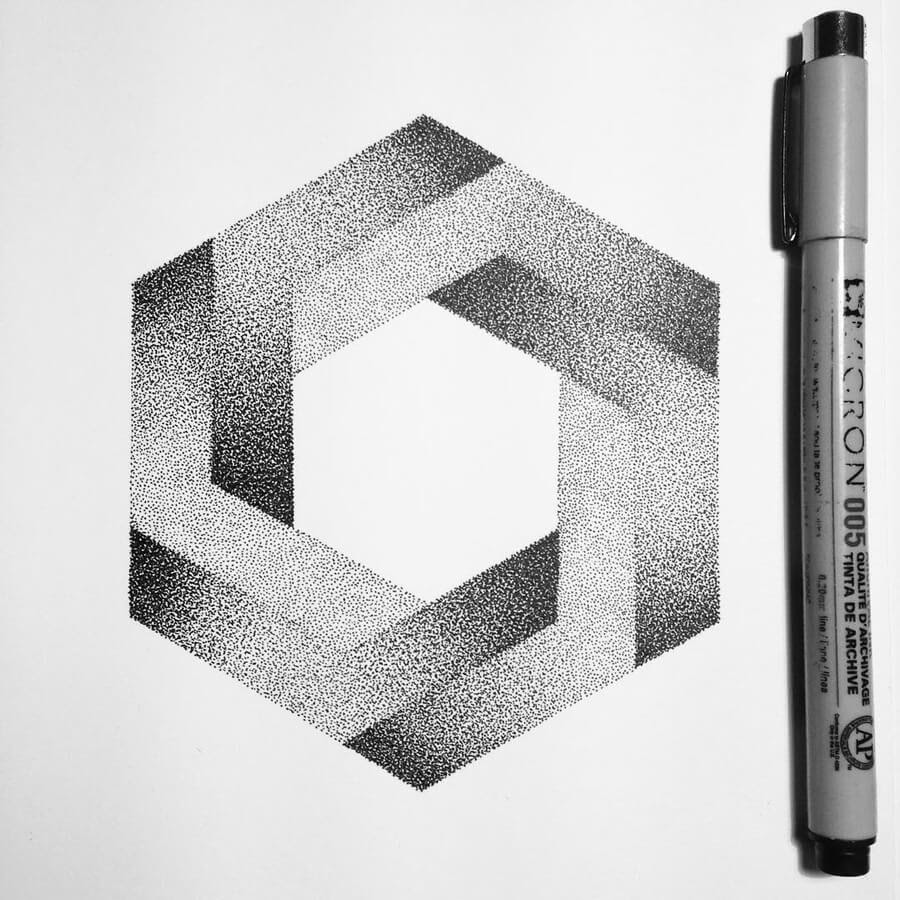10-Hexagone-Stippling-Drawings-Ilan-Piotelat-www-designstack-co