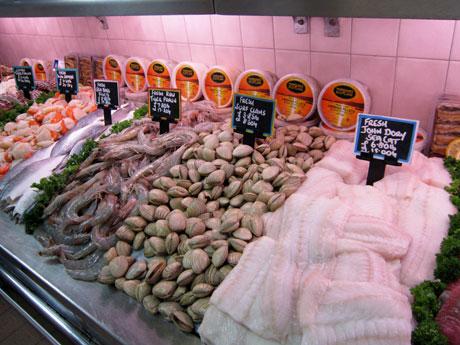 John Dory, clams & prawns.