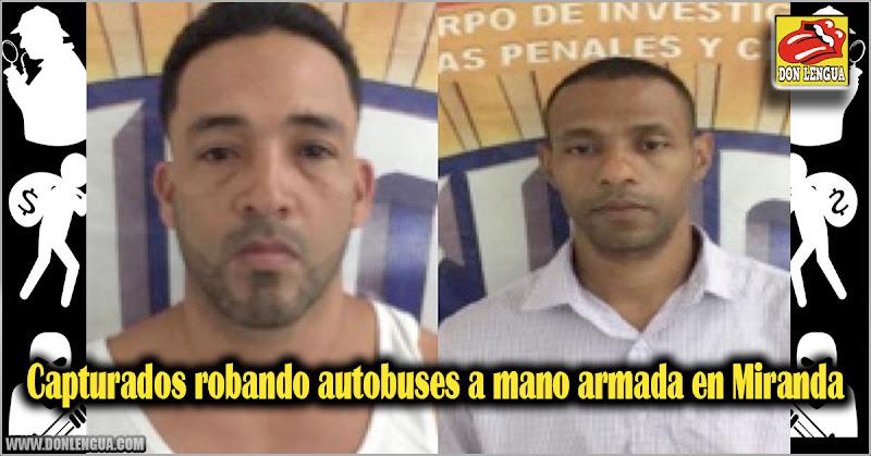 Capturados robando autobuses a mano armada en Miranda