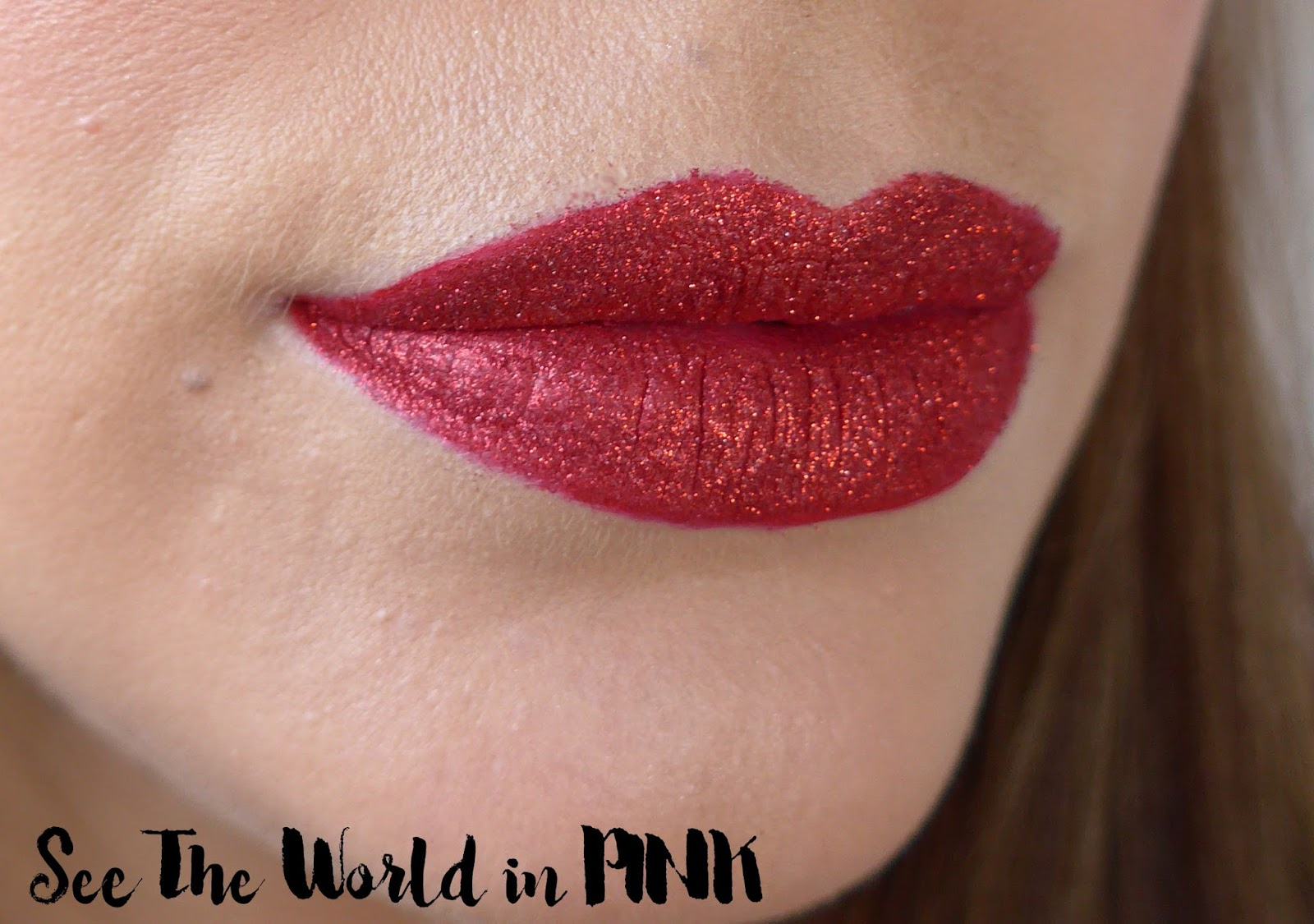 Red Glitter Lips - Valentine's Day Makeup!