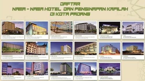 Infografis: Nama-nama Hotel dan Penginapan Kafilah MTQ Nasional XXVIII