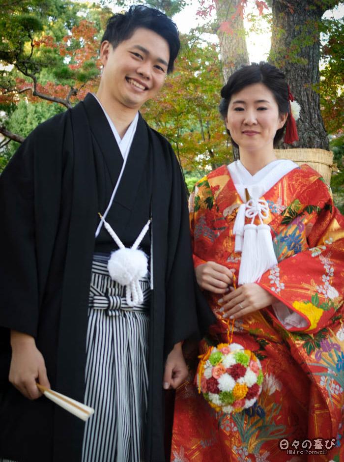 Portrait jeunes mariés, jardin shukkei-en, Hiroshima-shi
