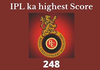 IPL Ka Sabse Bada Score   IPL ka highest Score) आईपीएल का सबसे बड़ा स्कोर