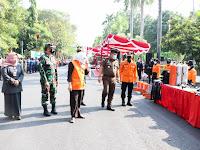 Dandim Bojonegoro Menghadiri Upacara Kesiapsiagaan Bencana