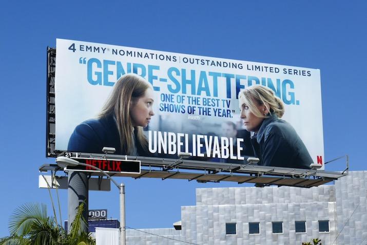 Unbelievable 2020 Emmy nominee billboard