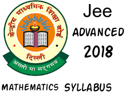 JEE Advanced 2018 Mathematics syllabus
