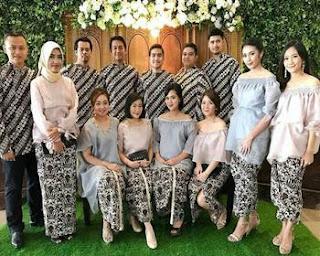 baju batik keluarga 2018