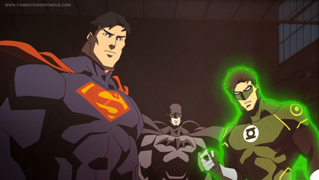 Superman vs Batman vs Green Lantern in Justice League: War