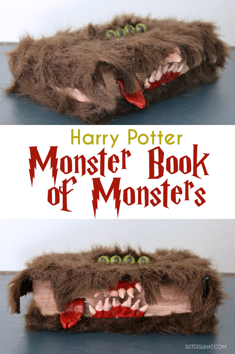 Harry Potter monster book of monsters DIY Halloween decoration!!