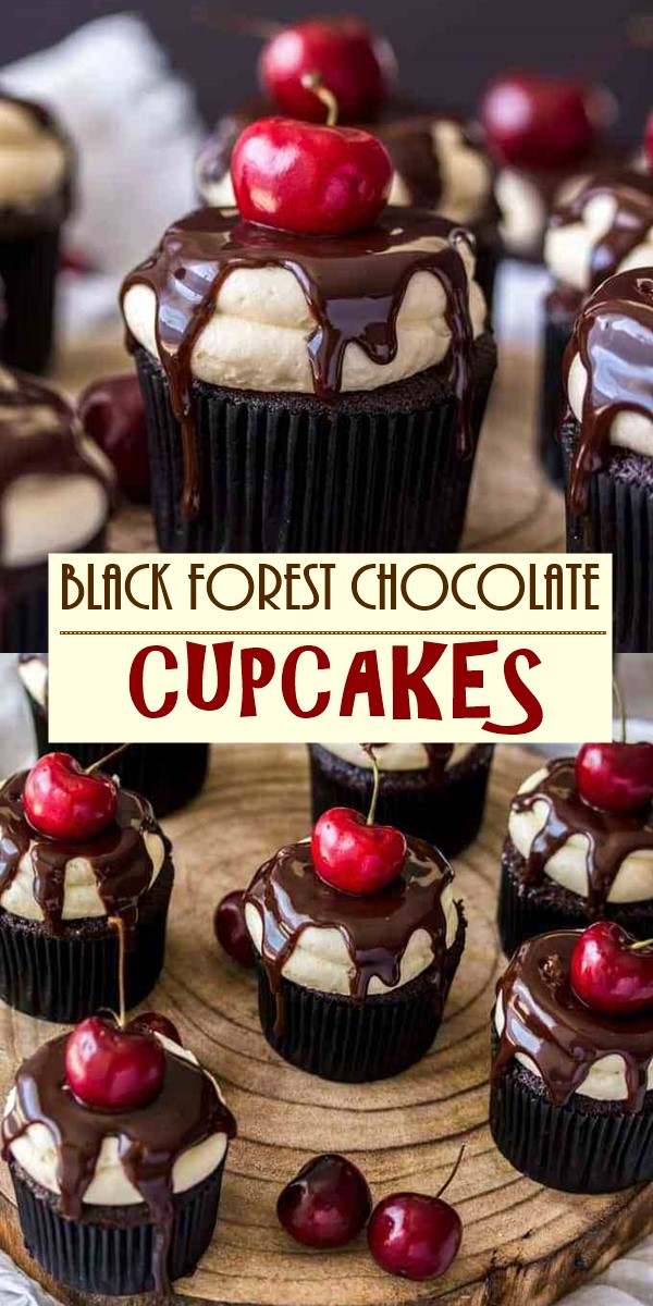BLACK FOREST CHOCOLATE CUPCAKES #cupcakerecipes