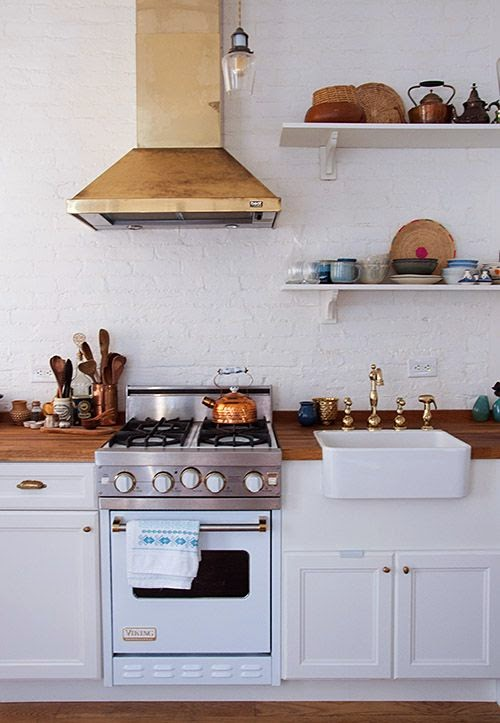 how to use bookshelves in the kitchen