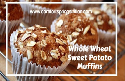 Whole Wheat Sweet Potato Muffins, one of my favorites this week!