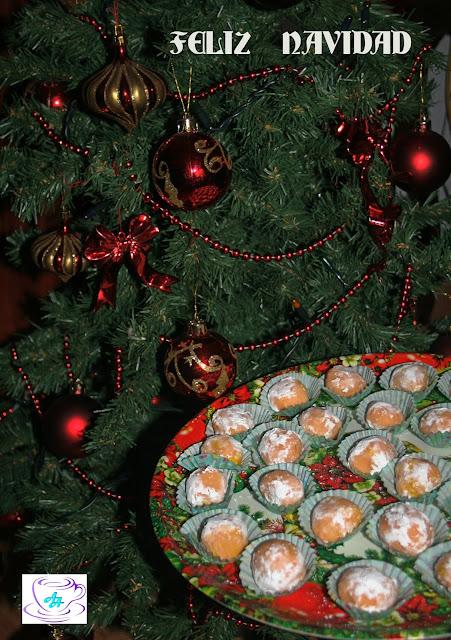 trufas, naranja, chocolate blanco,navidad
