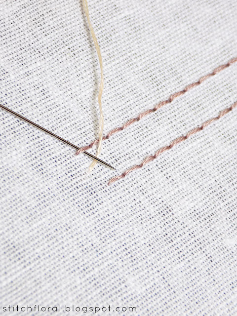 How to work interlaced back stitch