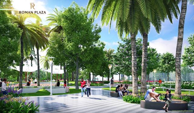 Không gian xanh chung cư Roman Plaza