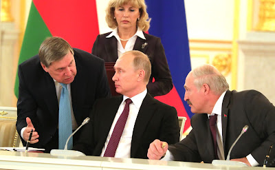 Vladimir Putin at the meeting of the Supreme State Council of the Union State of Russia and Belarus.