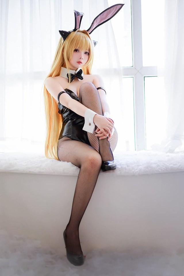 Bỏng mắt với hình ảnh cosplay Golden Darkness trong To Love-Ru theo phong cách nàng thỏ