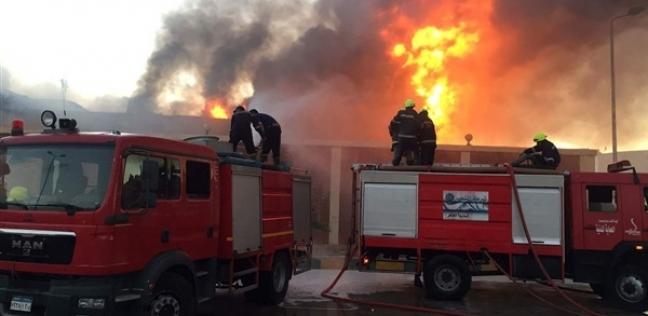 حريق غاز يلتهم 9 سيارات وتوك توك منذ قليل.. وأول بيان أمني بالتفاصيل وحجم الخسائر