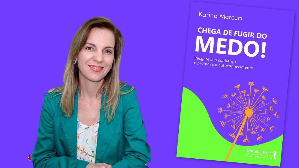 """Em """"Chega de fugir do medo"""", a autora Karina Marcuci propõe uma jornada interna para que o leitor tome mais consciência sobre si mesmo nesse sentido do medo. Essa jornada é apoiada por um conjunto de atividades terapêuticas que o ajudam a desenvolver e até melhorar a própria inteligência emocional."""