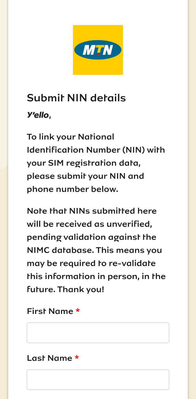 Step by step to link your MTN, Airtel sim with your NIN (national ID card)