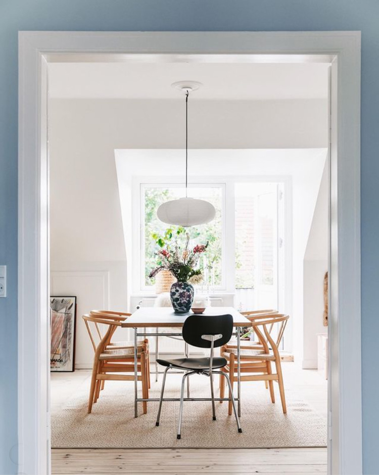 Danish Blues And Spring Pastels in a Danish living Area