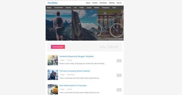 nextbite blogger template