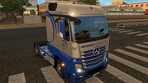 Metallic Dennis Distribution Mercedes MP4 skin