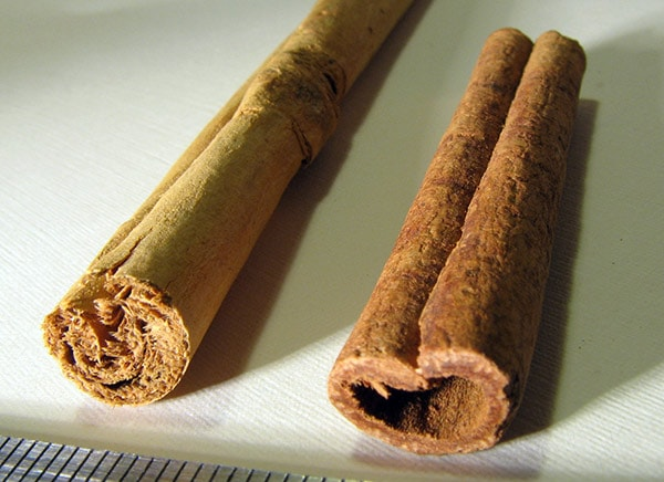 Ceylon cinnamon is a true original cinnamon that comes from Sri Lanka, and just marked can be considered as true cinnamon. Unlike the previous, Ceylon cinnamon is identified by the stick with lighter brown color that is built of layers, but hasn't got a cavity in the middle.