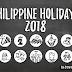 Philippine Holidays 2018 | List
