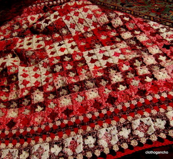 crochet granny square blanket - Very Easy motif For Beginners - Afghan