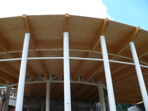 copertura-legno lamellare-travi-legno-struttura