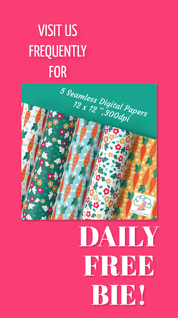 Daily Freebies Day15 Carrots Papers