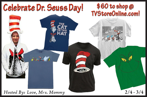 Celebrate Dr. Seuss Day with TVStoreOnline! Dr. Seuss Day, celebrate Dr. Seuss, thing 1 and thing 2, the grinch, cat in the hat, national book day
