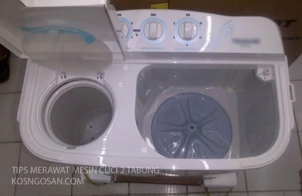 tips merawat mesin cuci 2 tabung