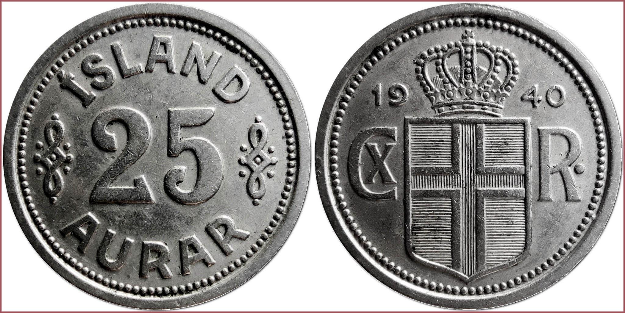 25 aurar, 1940: Iceland