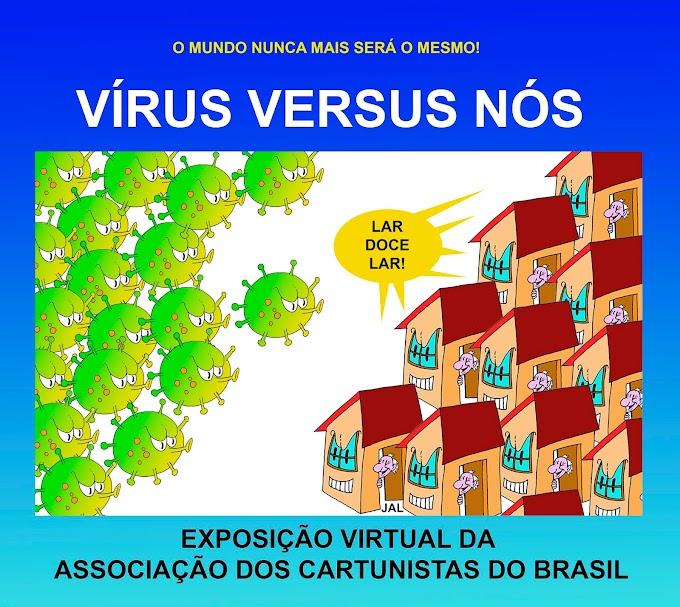 Vírus versus nós: Cartunistas de todo o mundo na luta contra o coronavírus