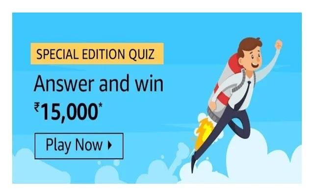 Amazon Special Edition Quiz, Answer of Amazon Special Edition Quiz