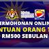 Permohonan Online Bantuan Orang Tua (BOT) RM500 Sebulan