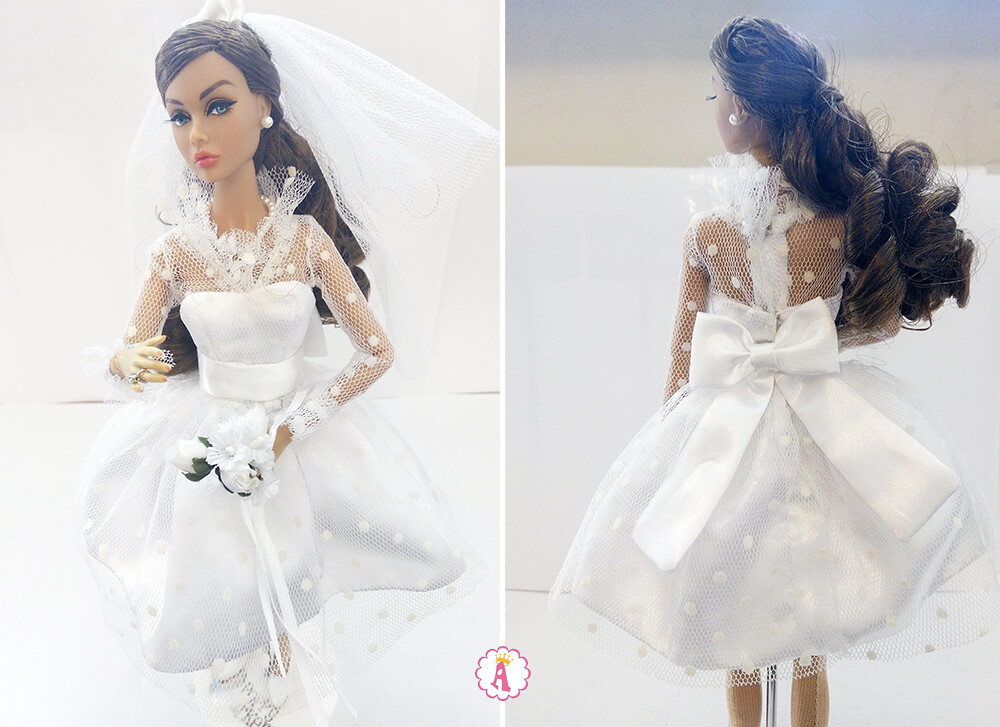 Свадебное платье Poppy Parker Wedding Belle спереди и сзади