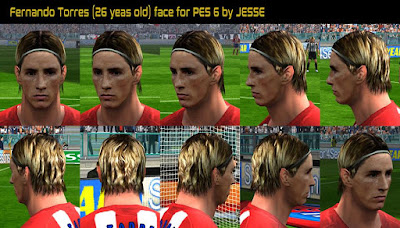 PES 6 Faces Fernando Torres ( 26 Years Old ) by Jesse