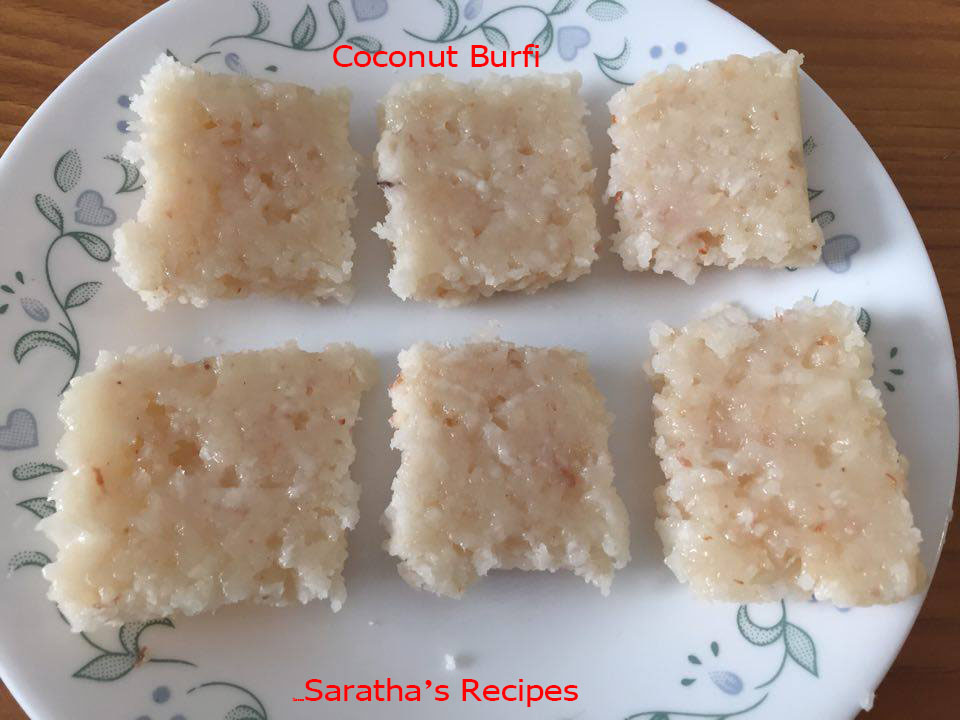 how to make thengai burfi