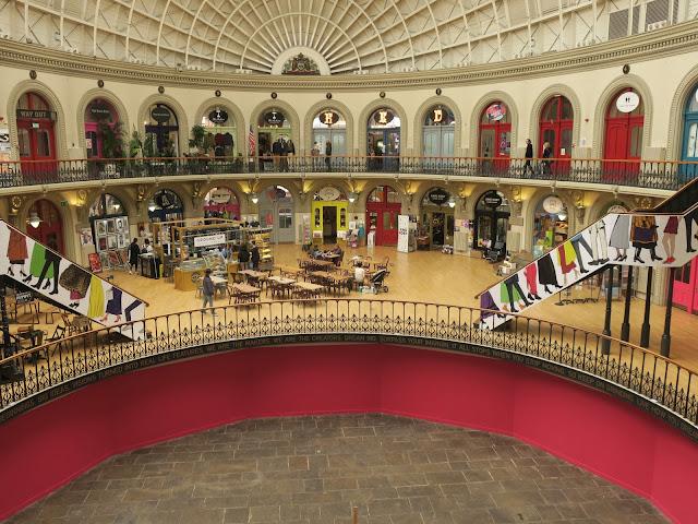 Corn Exchange, Leeds: cafe, basement, shops and roof.
