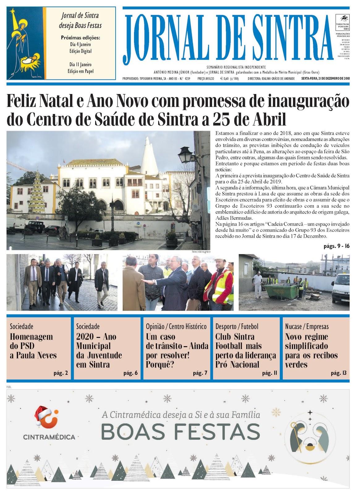 Capa da edição de 21/12/2018