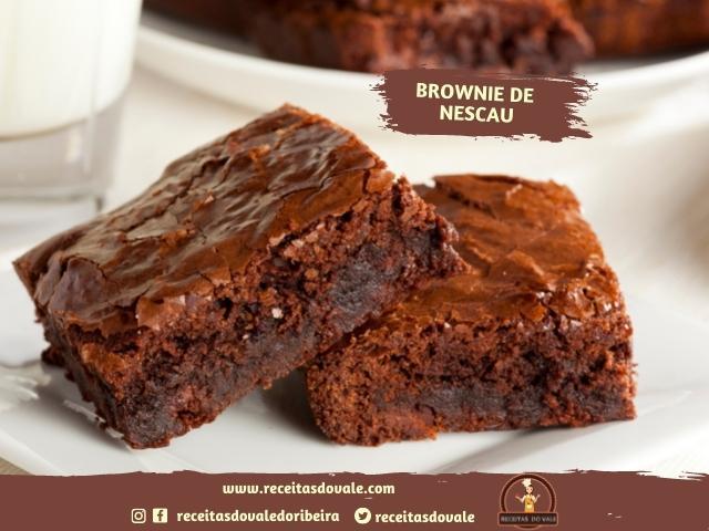 Receita de Brownie de Nescau