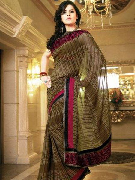 US Winter Fashion: New Style Indian Wedding Saree Fashion 2012